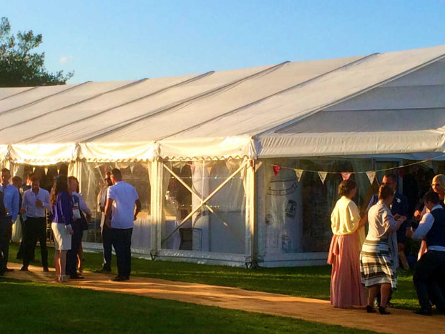 Arrow Valley Hog Roast catering for guests at wedding reception