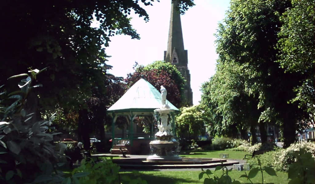 Redditch Town by the bandstand. Home to Arrow Valley Hog Roast Hire